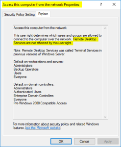 Use Group Policy to allow access to computers from the network